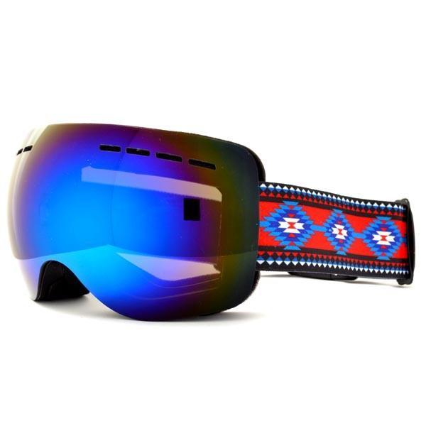 送料無料 スノーボード ゴーグル ケース付き フレームレス メンズ レディース ミラー 球面 ダブルレンズ SNOWBOARD GOGGLE スキー スノボ|elephant|11