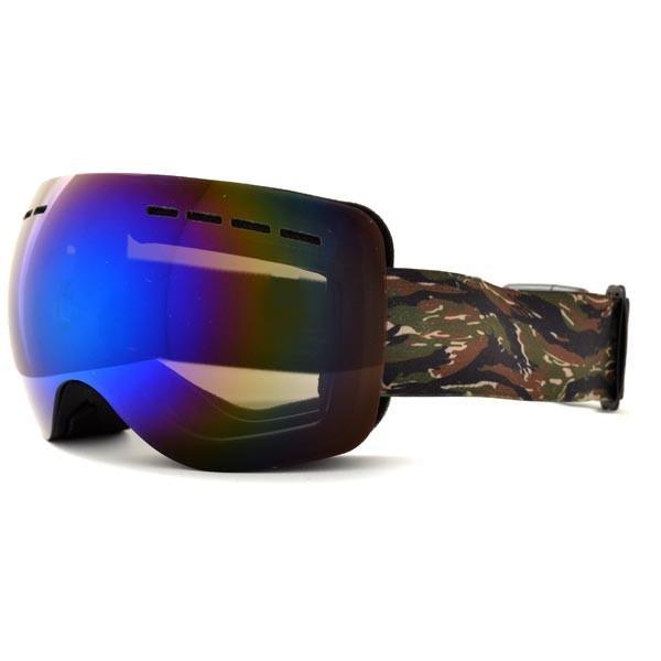 送料無料 スノーボード ゴーグル ケース付き フレームレス メンズ レディース ミラー 球面 ダブルレンズ SNOWBOARD GOGGLE スキー スノボ|elephant|10