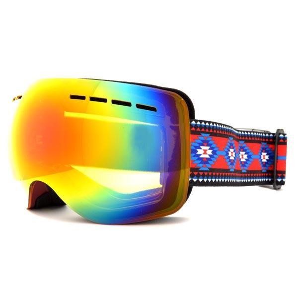 送料無料 スノーボード ゴーグル ケース付き フレームレス メンズ レディース ミラー 球面 ダブルレンズ SNOWBOARD GOGGLE スキー スノボ|elephant|12