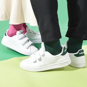 アディダス  ベルクロ スニーカー メンズ レディース adidas ADVANCOURT BASE VELCRO U アドバンコート シューズ 靴 ホワイト 白 2021秋新作 GX0723 エレファントSPORTS PayPayモール店