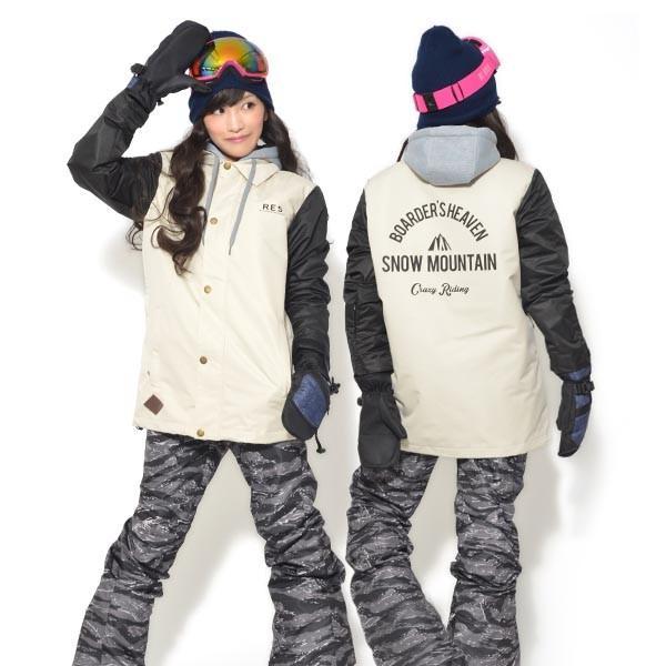送料無料 スノーボードウェア レディース Coach Jacket コーチジャケット バックプリント スノーボード ウェア スノボ SNOWBOARD JACKET 17-18 2017-2018冬新作 elephant 25