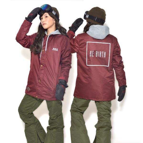 送料無料 スノーボードウェア レディース Coach Jacket コーチジャケット バックプリント スノーボード ウェア スノボ SNOWBOARD JACKET 17-18 2017-2018冬新作 elephant 27