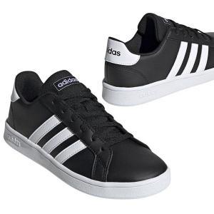 アディダス スニーカー レディース adidas GRANDCOURT K グランドコート シューズ 靴 ブラック ホワイト ネイビー 白 黒 紺|エレファントSPORTS PayPayモール店