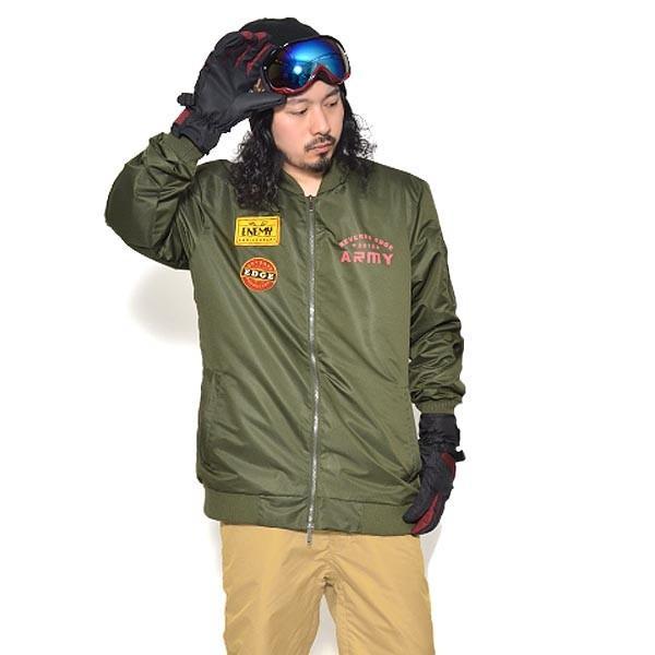 送料無料 スノーボードウェア メンズ MA-1 ジャケット スノーウエア スノーボード ウェア スノボ ワッペン 無地 SNOWBOARD MA1 JACKET 17-18 2017-2018冬新作 elephant 17