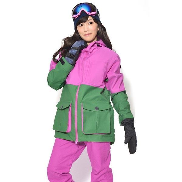 送料無料 スノーボードウェア レディース バイカラー 切り替え 2トーン ジャケット スノーボード スノボ ウエア SNOWBOARD JACKET 17-18 2017-2018冬新作 elephant 14