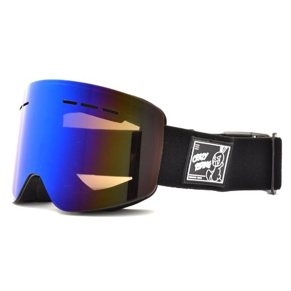 送料無料 スノーボード ゴーグル ケース付き フレームレス メンズ レディース ミラー 平面 レンズ SNOWBOARD GOGGLE スキー スノボ|elephant|11