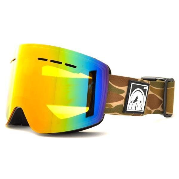 送料無料 スノーボード ゴーグル ケース付き フレームレス メンズ レディース ミラー 平面 レンズ SNOWBOARD GOGGLE スキー スノボ|elephant|13