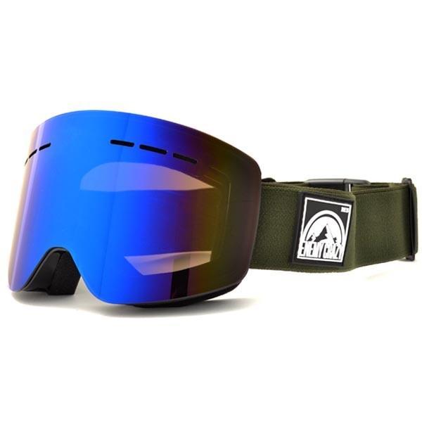 送料無料 スノーボード ゴーグル ケース付き フレームレス メンズ レディース ミラー 平面 レンズ SNOWBOARD GOGGLE スキー スノボ|elephant|12