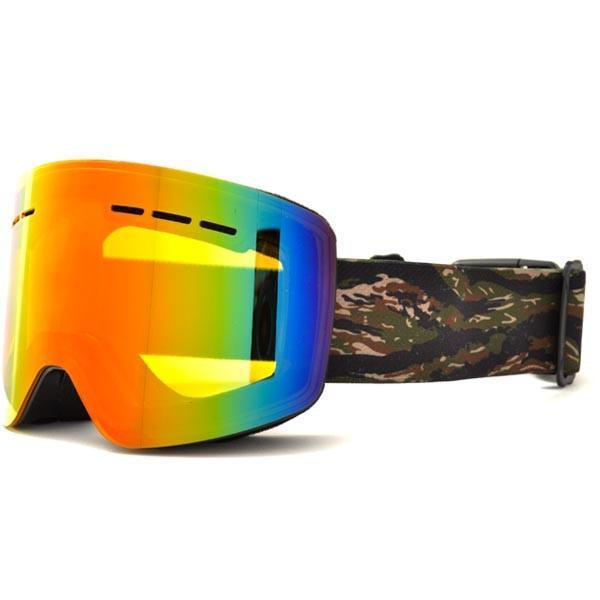 送料無料 スノーボード ゴーグル ケース付き フレームレス メンズ レディース ミラー 平面 レンズ SNOWBOARD GOGGLE スキー スノボ|elephant|10