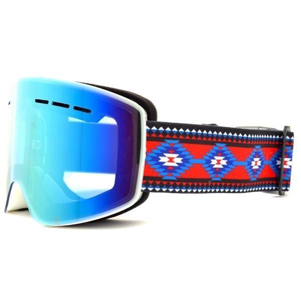 送料無料 スノーボード ゴーグル ケース付き フレームレス メンズ レディース ミラー 平面 レンズ SNOWBOARD GOGGLE スキー スノボ|elephant|15