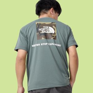 2021春夏新作 ノースフェイス Tシャツ メンズ 半袖 THE NORTH FACE スクエア カモフラージュ ティー バックプリント 迷彩 nt32158|エレファントSPORTS PayPayモール店