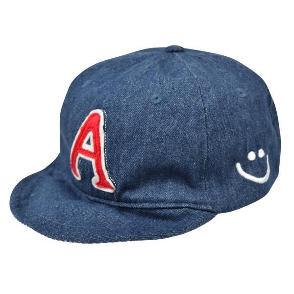 イニシャルキャップ 帽子 ベビー キッズ 46cm-50cm UVカット 紫外線対策 2way デニム スウェット 赤ちゃん ユニセックス 春夏 おしゃれ 1才 2才 3才|elmundo|10