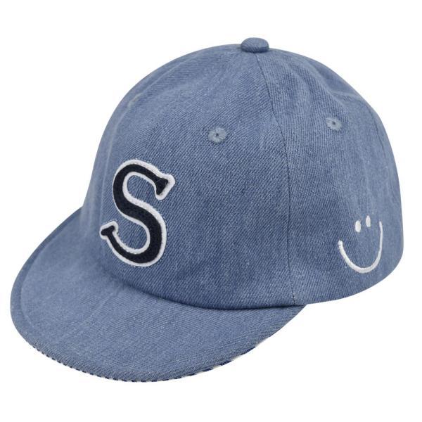 イニシャルキャップ 帽子 ベビー キッズ 46cm-50cm UVカット 紫外線対策 2way デニム スウェット 赤ちゃん ユニセックス 春夏 おしゃれ 1才 2才 3才|elmundo|16