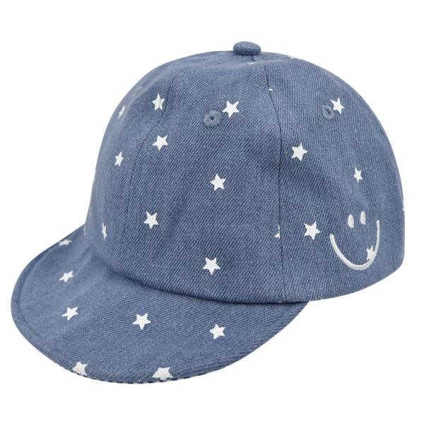 イニシャルキャップ 帽子 ベビー キッズ 46cm-50cm UVカット 紫外線対策 2way デニム スウェット 赤ちゃん ユニセックス 春夏 おしゃれ 1才 2才 3才|elmundo|19