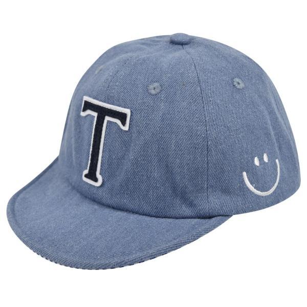 イニシャルキャップ 帽子 ベビー キッズ 46cm-50cm UVカット 紫外線対策 2way デニム スウェット 赤ちゃん ユニセックス 春夏 おしゃれ 1才 2才 3才|elmundo|17