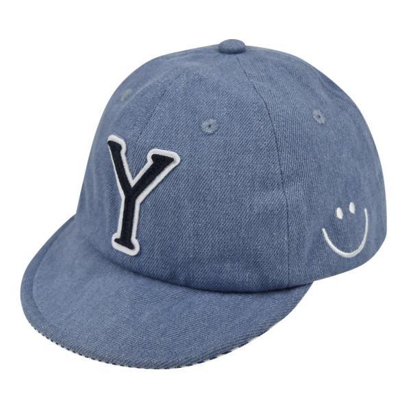 イニシャルキャップ 帽子 ベビー キッズ 46cm-50cm UVカット 紫外線対策 2way デニム スウェット 赤ちゃん ユニセックス 春夏 おしゃれ 1才 2才 3才|elmundo|18