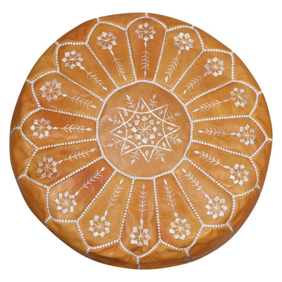モロッコ 本革 プフ スツール mocororo luxe オットマン クッション 刺繍 羊革|elmundo|23