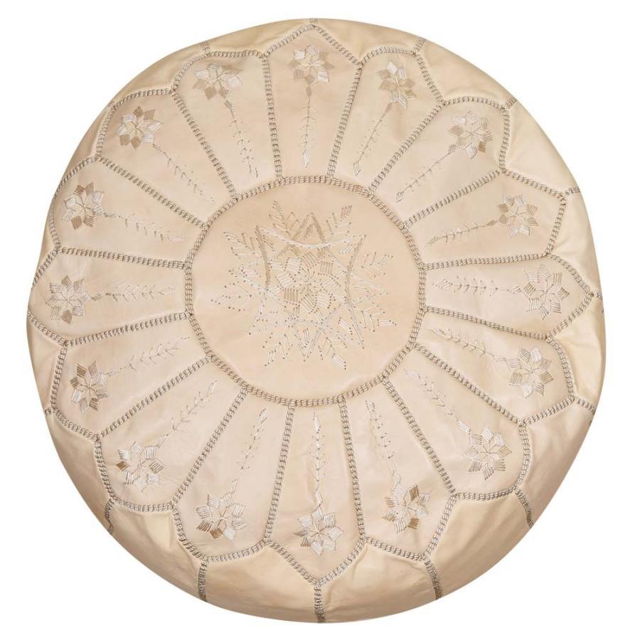 モロッコ 本革 プフ スツール mocororo luxe オットマン クッション 刺繍 羊革|elmundo|22