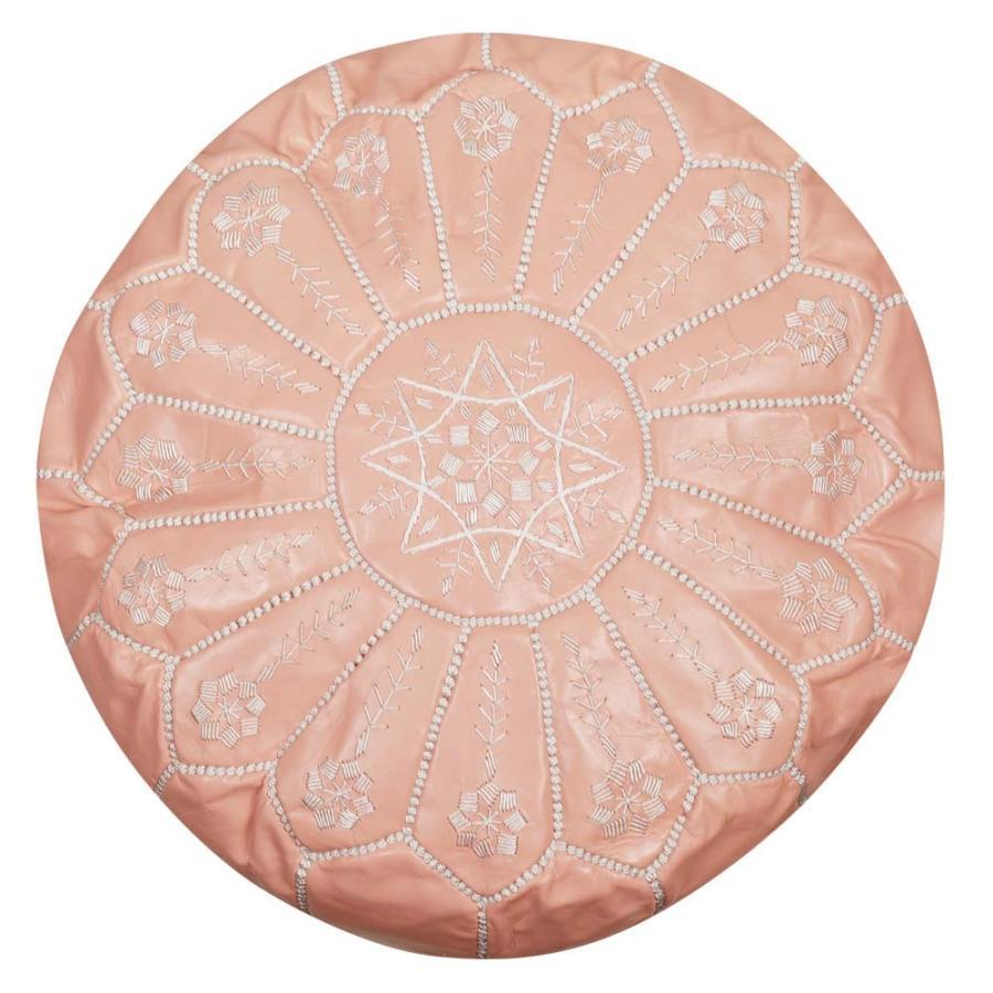 モロッコ 本革 プフ スツール mocororo luxe オットマン クッション 刺繍 羊革|elmundo|19
