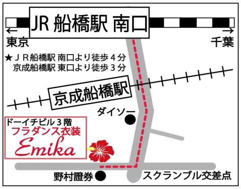 フラメンコ・フラダンス衣装emikaの地図