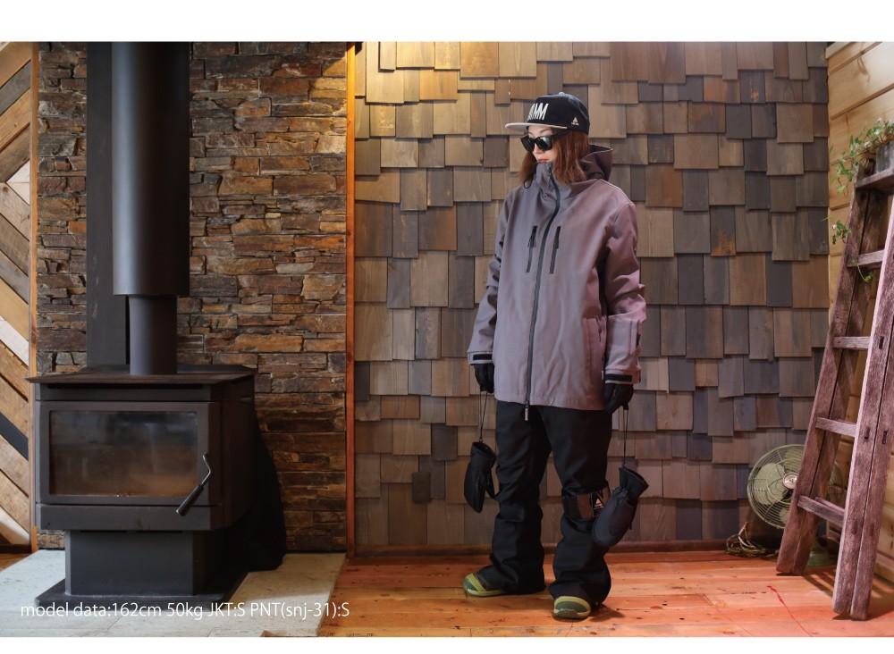 スノーボード4WAYストレッチスノーボードジップジャケット、詳細ディテール