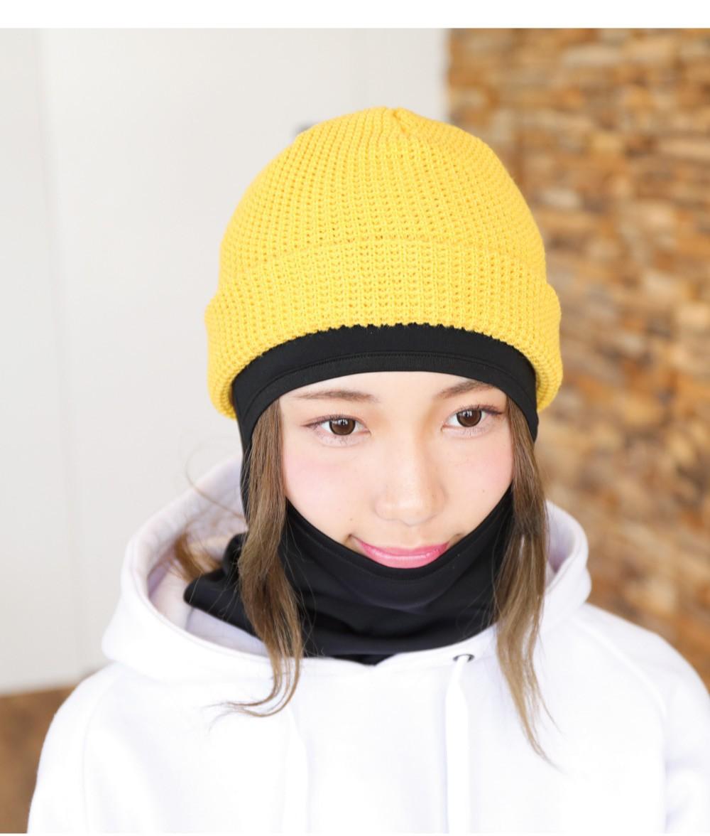 スノーボードワッフルリブビーニーサイズ詳細
