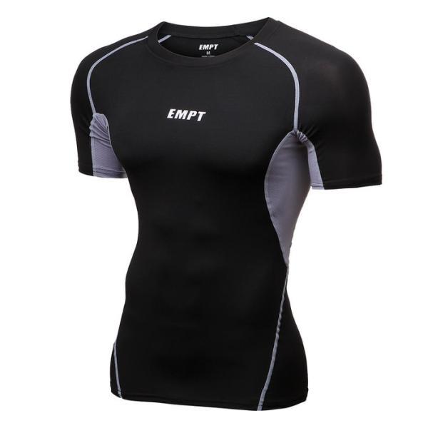 EMPT メンズ コンプレッションウェア コンプレッションインナー 夏用 夏 半袖 Tシャツ おしゃれ 大きいサイズ 小さいサイズ 筋トレ トレーニング ジム スポーツ|empt|22