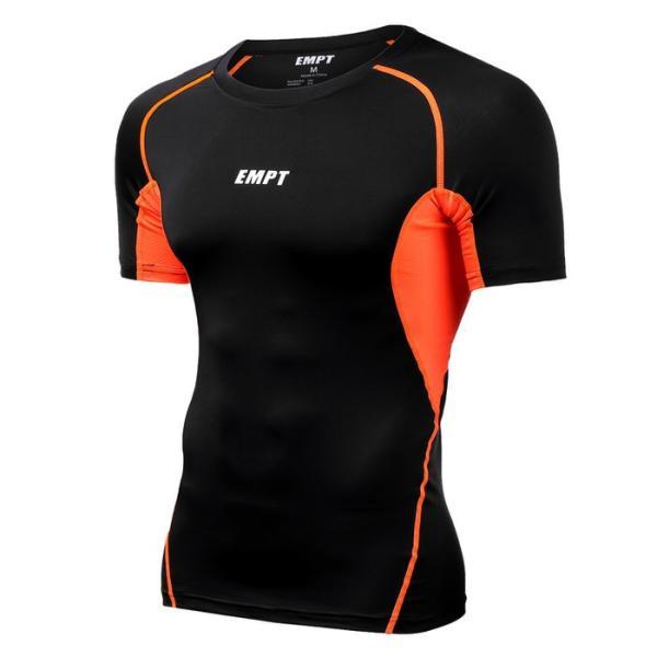 EMPT メンズ コンプレッションウェア コンプレッションインナー 夏用 夏 半袖 Tシャツ おしゃれ 大きいサイズ 小さいサイズ 筋トレ トレーニング ジム スポーツ|empt|25