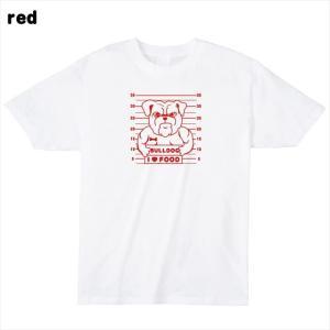 [S-XL] ブルドックマグショットプリントTシャツ おもしろ ロゴ 犬 動物|ener|06