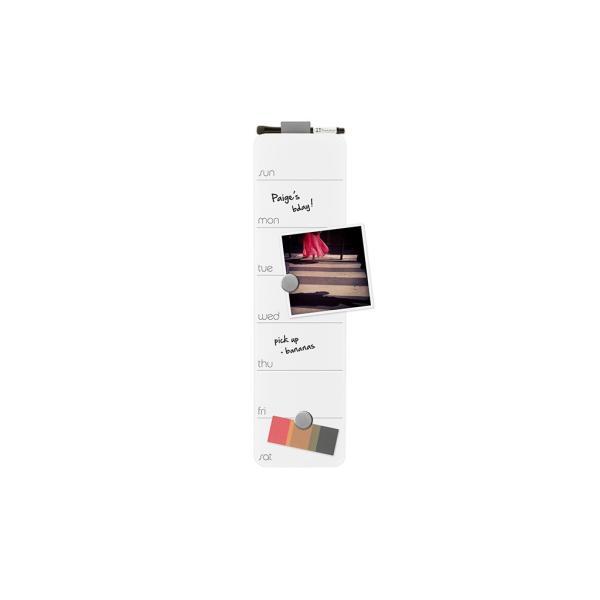 スケジュールボード ホワイトボード おしゃれな 壁掛け 週間 予定表 ガラス製 ウィークリー プランナー 51cm×14cm 全7色|enitusa|10