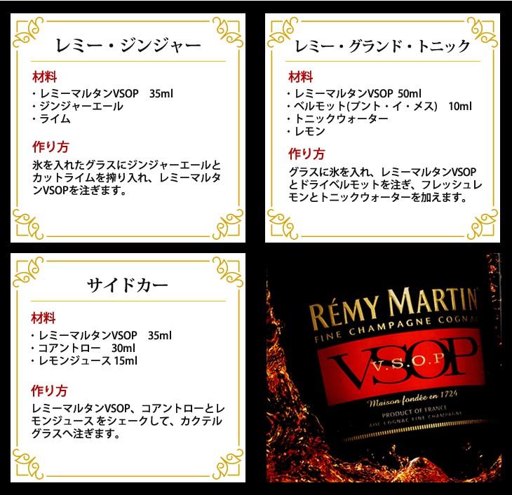 レミーマルタンの飲み方紹介