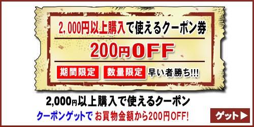 【200円OFF☆特別クーポン】買えば買うほどお得なクーポン!《数量限定・期間限定》