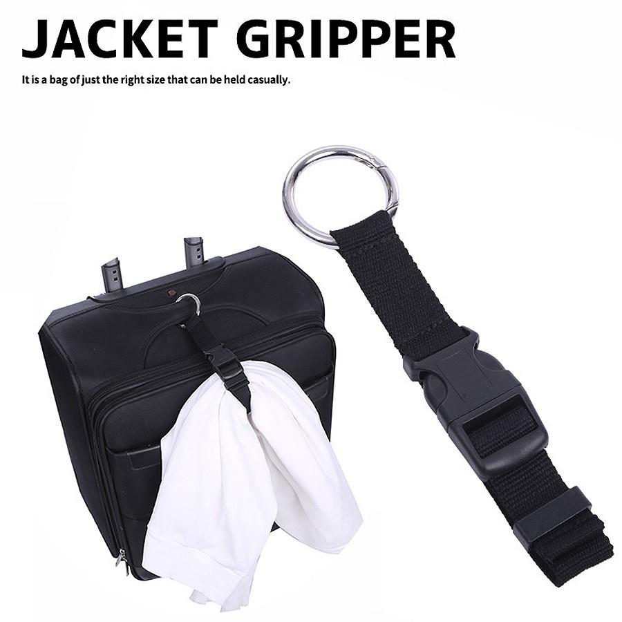 送料無料 マフラーを手ぶらで持ち運べるジャケットグリッパー ジャケット ベルト キャリーバッグ リュック ビジネスバッグ