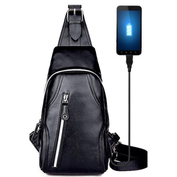 ボディバッグ メンズ ショルダーバッグ 斜めがけ バッグ 革 レザー 防水 BB02 送料無料|eredita-ys|17
