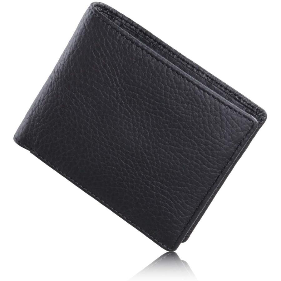 財布 メンズ 二つ折り 革 本革 イタリアンレザー 二つ折り財布 薄型 小銭入れ 牛革 メンズ財布 男性 ブランド WL17 送料無料 eredita-ys 16