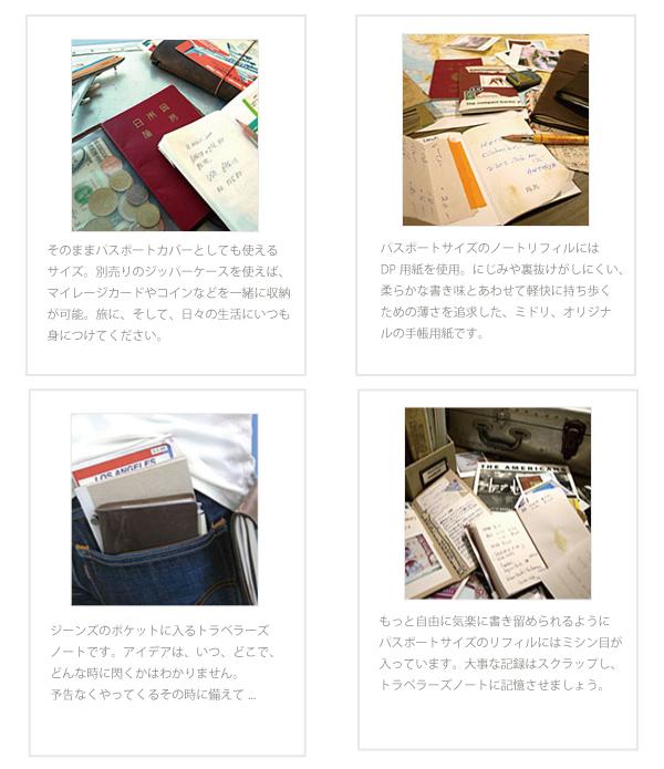 midori ミドリ トラベラーズノート 革製カバーノート パスポートサイズ スタータセット