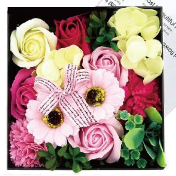 Q-FLA フレグランスボックス アレンジ (薔薇 バラ 花束 バスフレグランス ソープフラワー 入浴剤 母の日 ギフト プレゼント ホワイトデー)(送料無料)|escoshop|06