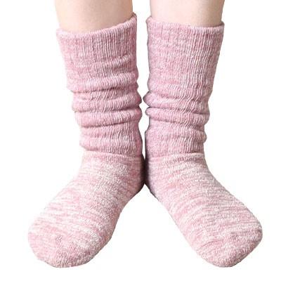 冷えとり 靴下 肌側シルクのもこもこ2重ソックス 薄手タイプ 日本製