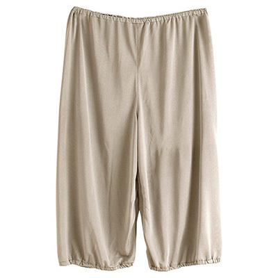 シルク100% キュロット ペチコート パンツ裾が巻き込める