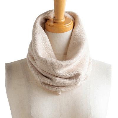 シルク100% ふわふわ加工 二重スヌード 日本製 筒状に編まれたホールガーメント