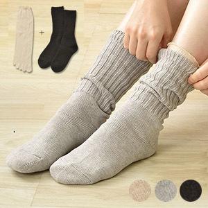 冷えとり靴下2足セット 日本製 肌側シルク表側コットン