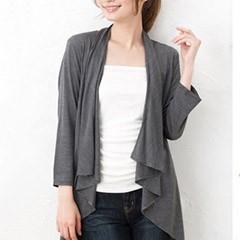 UVカット シルクジャージー ドレープ カーディガン 日本製 レディース 絹 冷えとり 敏感 肌 低刺激