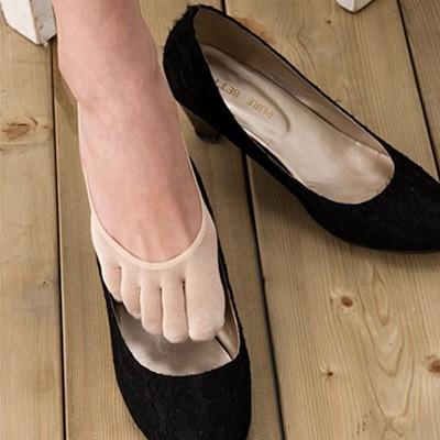 シルク 靴下 5本指 フットカバー 3足セット 日本製