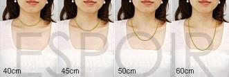 ネックレスの長さについて