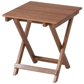 折りたたみテーブル サイドテーブル 幅350×高さ440mm 耐久性に優れ 腐りにくいアカシア材使用♪