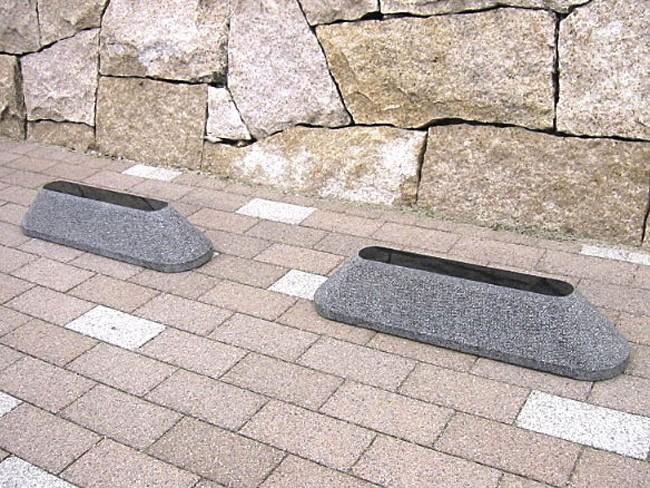 カーストッパー Aタイプ黒御影石