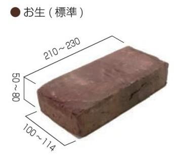 壁面・床面装飾材・古レンガ【英国産古赤(MI2-OB-U)】