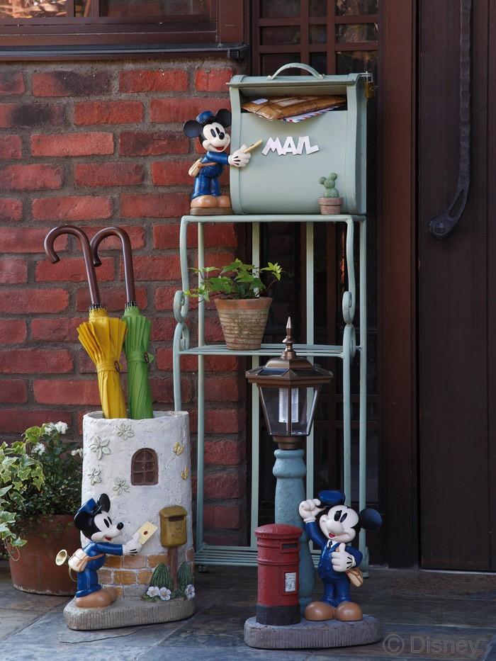 ポスト 郵便受け スタンドタイプ 郵便ポスト デザインポスト  ディズニーポスト ポストマンミッキー