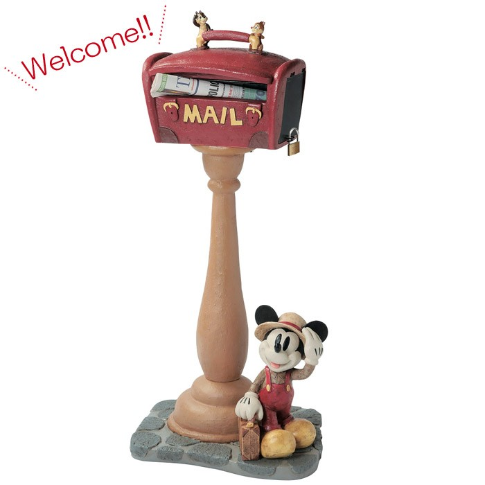 ポスト 郵便受け スタンドタイプ 郵便ポスト デザインポスト  ディズニーポスト スタンドポスト ミッキー トラベラー