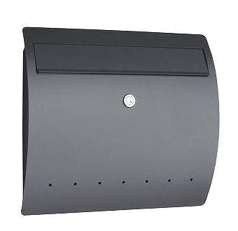 ダン郵便受けポスト ライン 壁掛け式 鍵付 ドイツserafini製